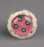 Retro Moroccan Style Cupboard Drawer Knob Metal Door Handle in Pink